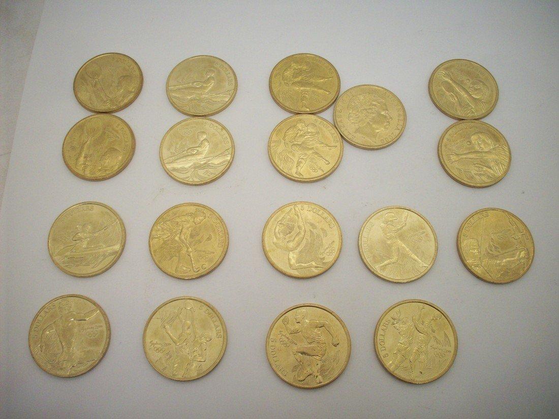 18 Sydney 2000 Olympics Five Dollar Bronze Coins