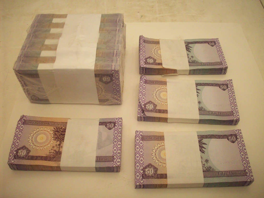 Lot of 14 Fifty Dinars Bands of 100