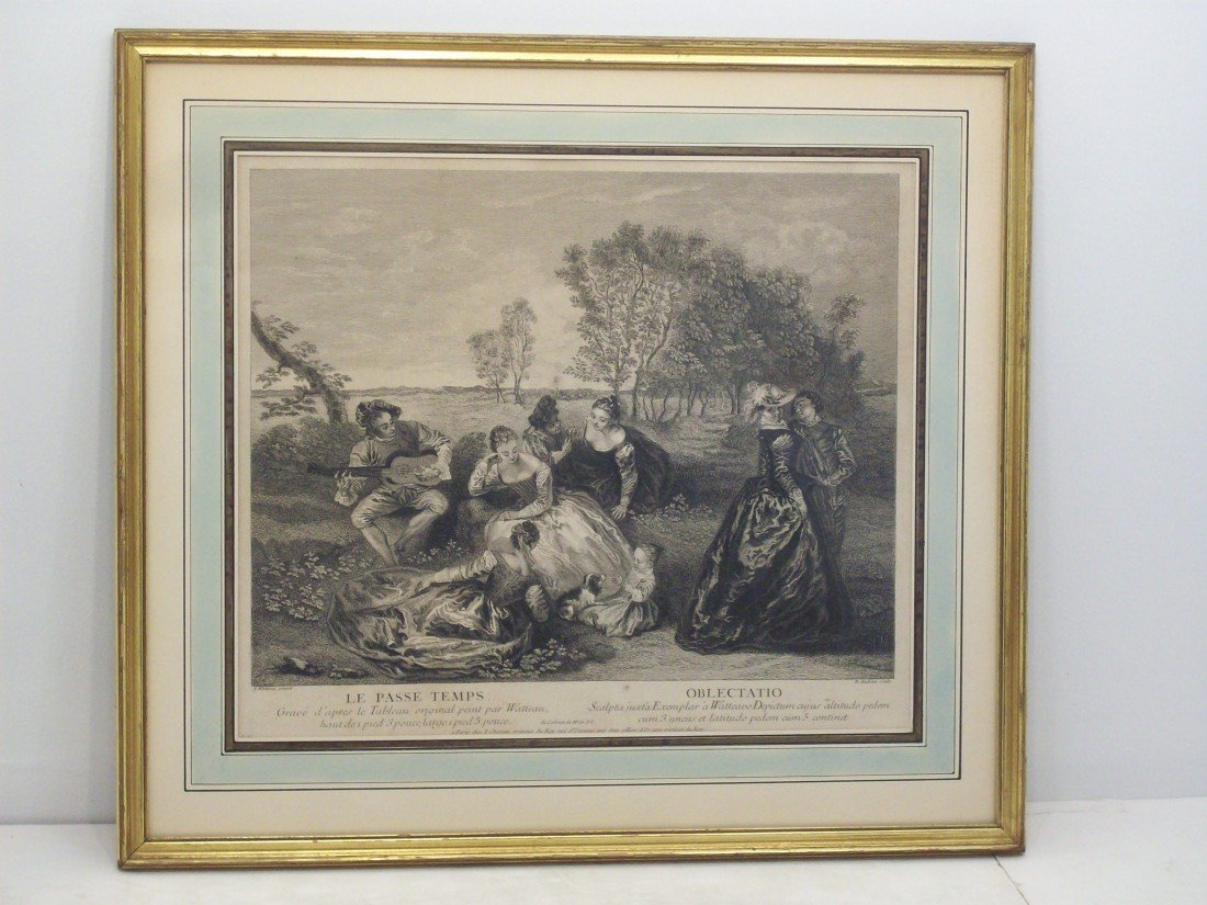B. Audran Engraving of a Painting by Antoine Watteau