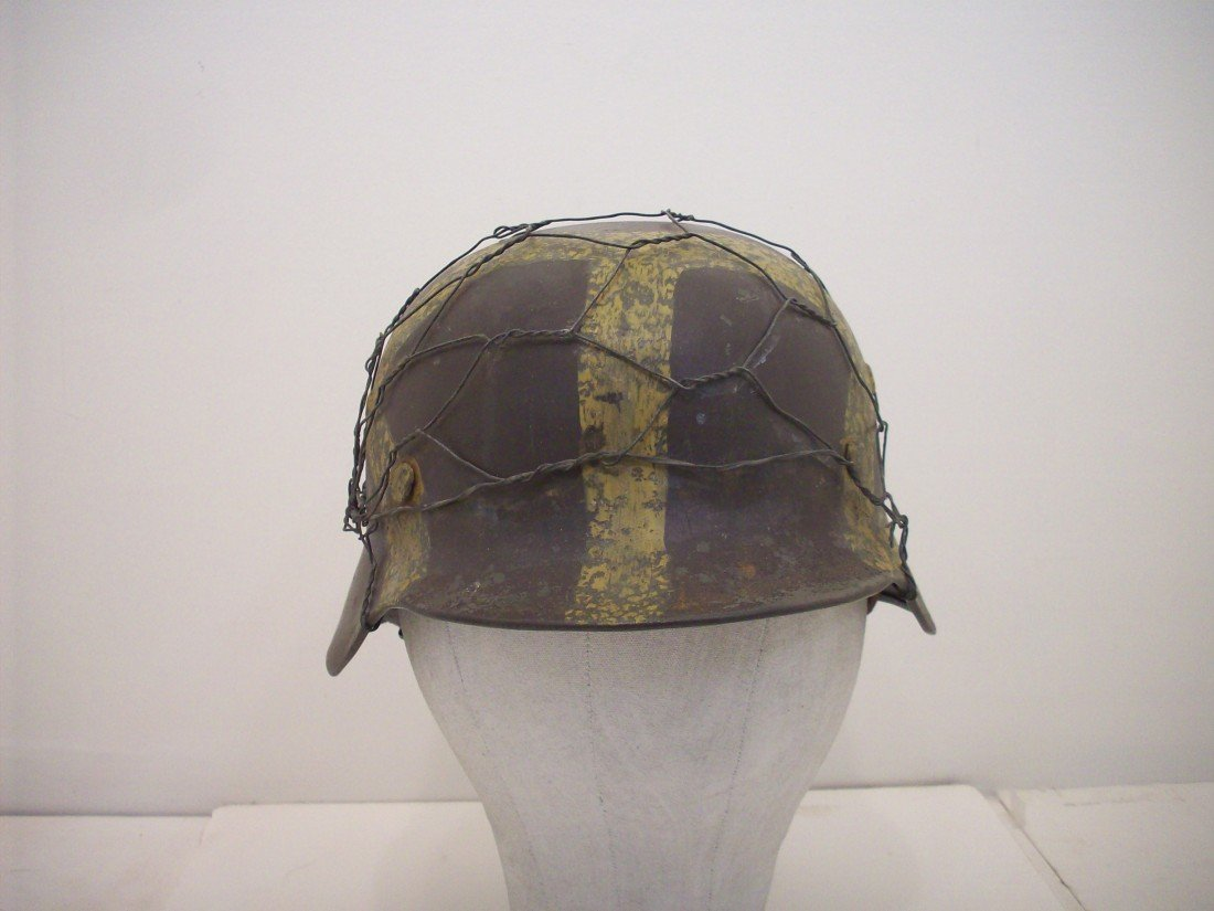 German M35 Helmet Camo Painting and Chicken wire