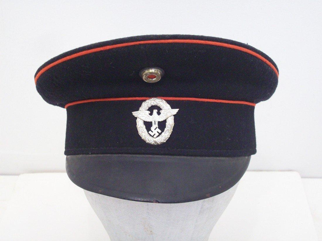"Feuerwehr Officials Visor Hat  ""Fire Defense"""