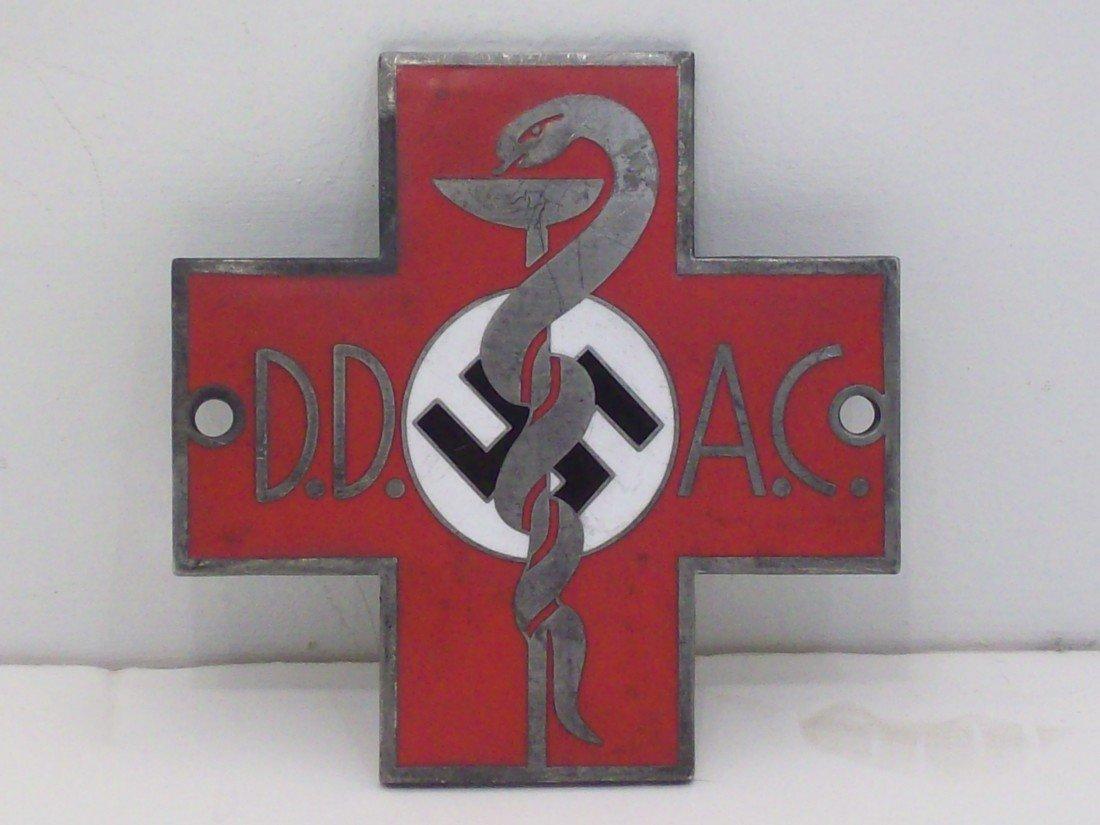 German Military Doctor Metal Plaque