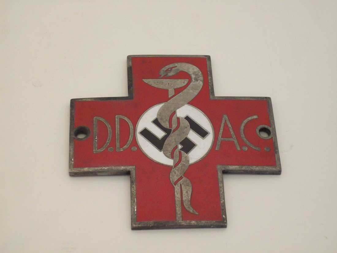 German Military Doctor Metal Plaque - 2