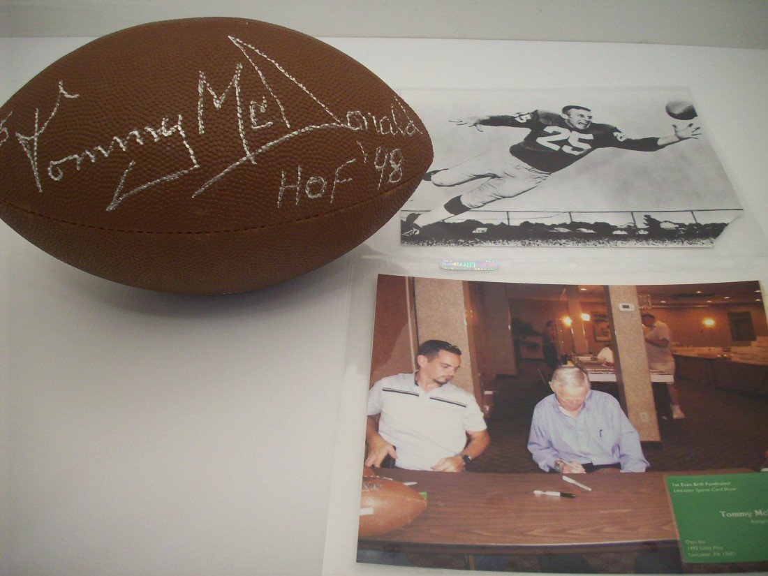 Tommy McDonald Autographed Football