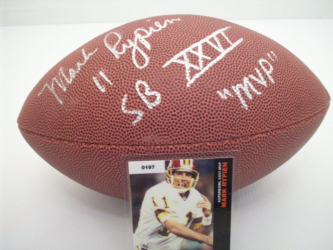 Mark Rypien Autographed Football