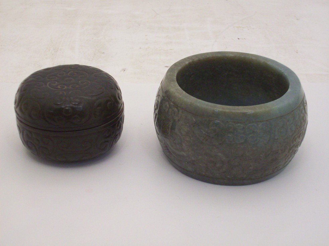 Jade Bangle and Jade Round Box