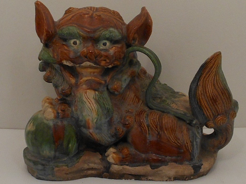 Large Pottery Foo Dog