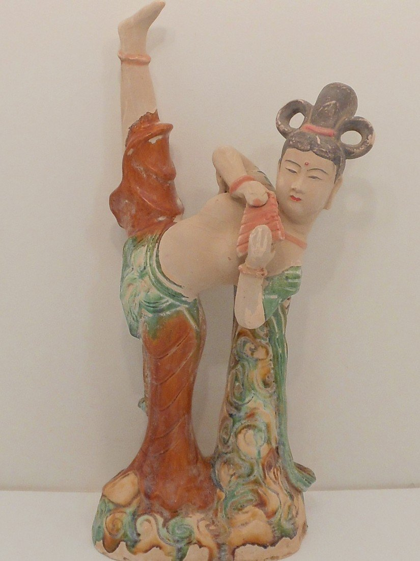 Pottery Women Flute Player