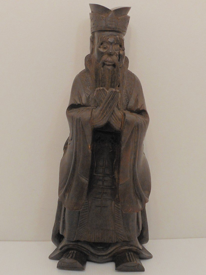 Carved Wood Wise Man