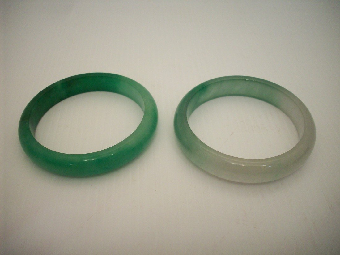 Pair of Green Jade Bangles
