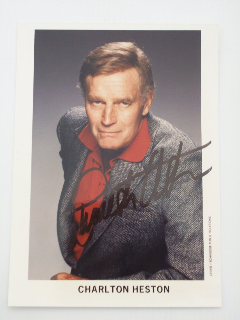 Charlton Heston Autograph