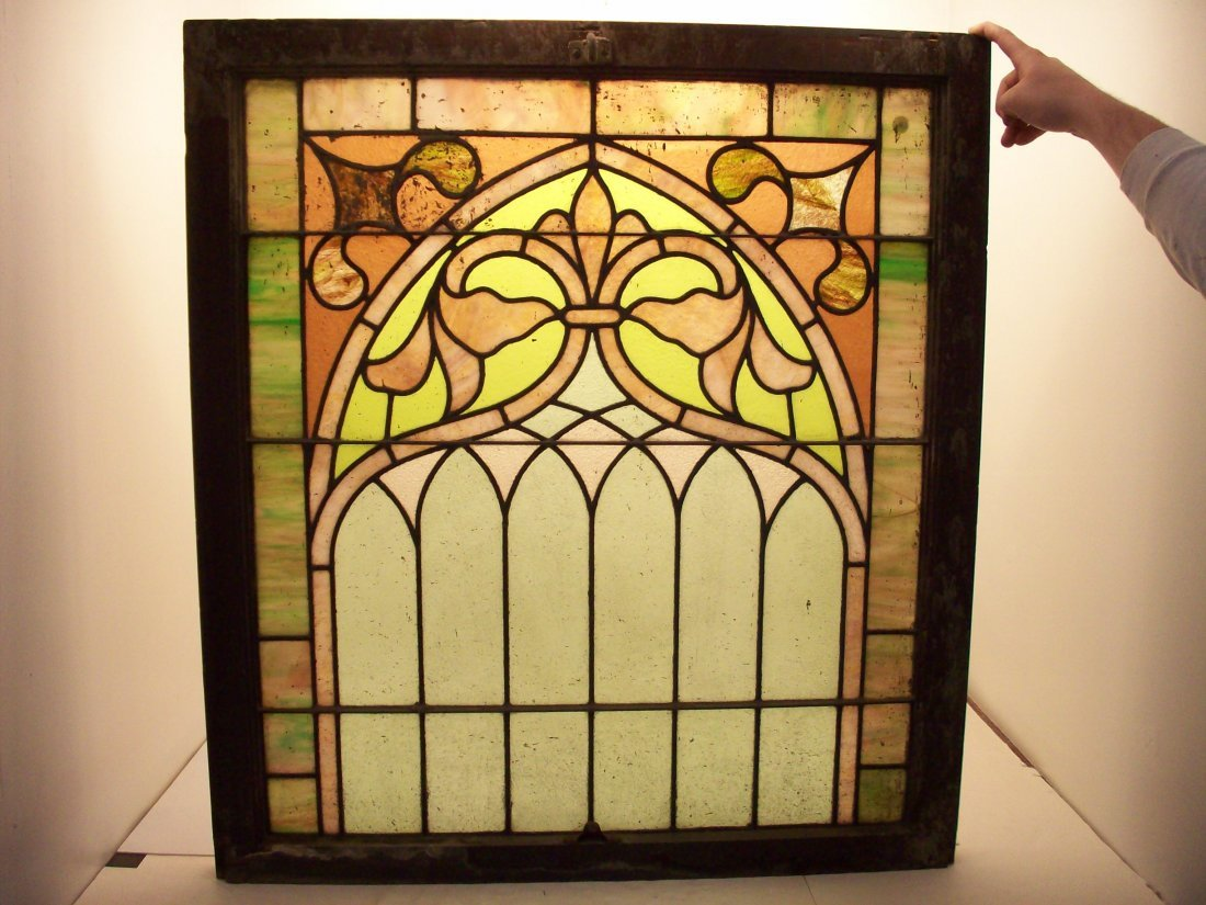Vintage Stained Glass Window #1