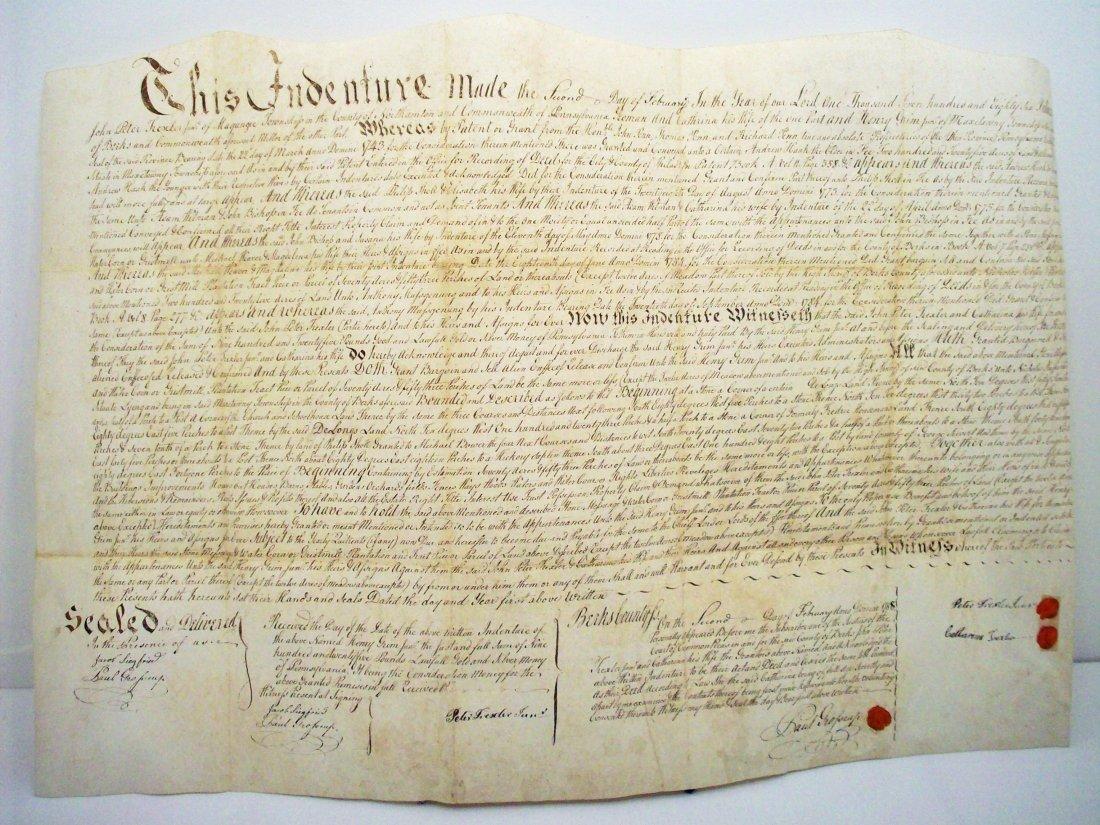 Indenture 1786 Deed Berks County, PA