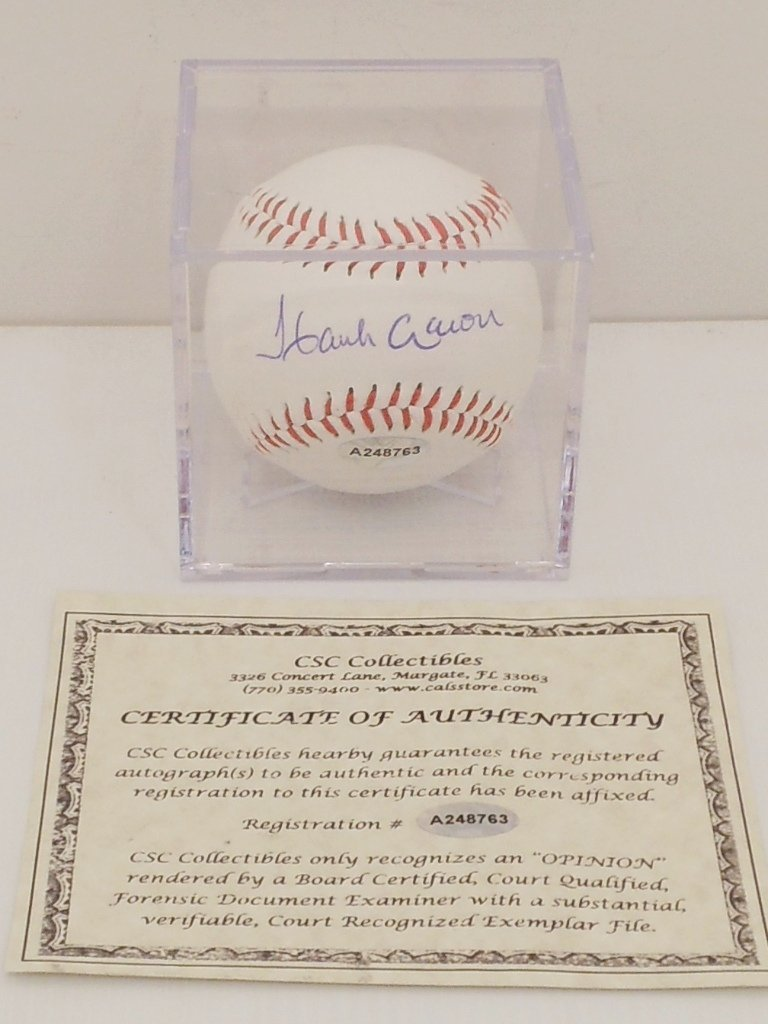 Hank Aaron Autograph Baseball
