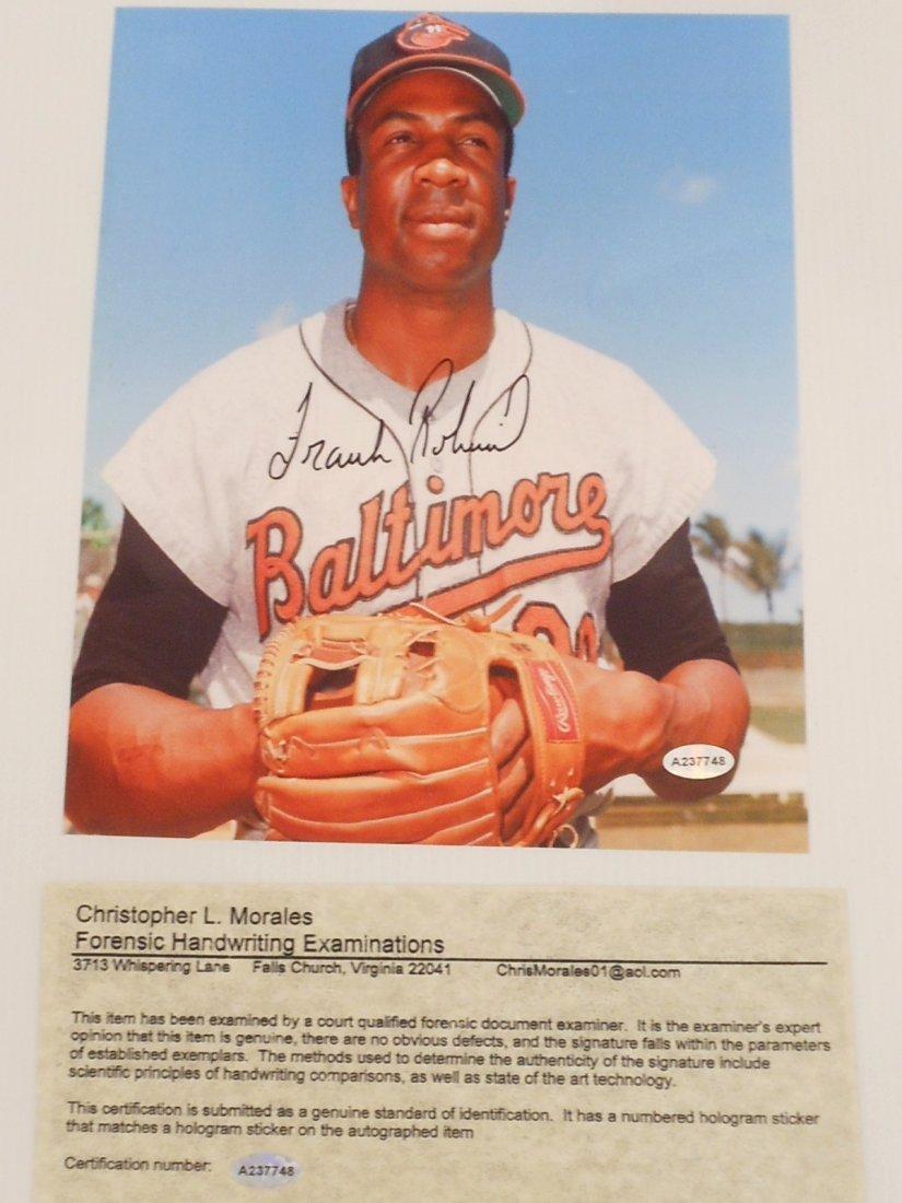 Frank Robinson Autograph Color Photo