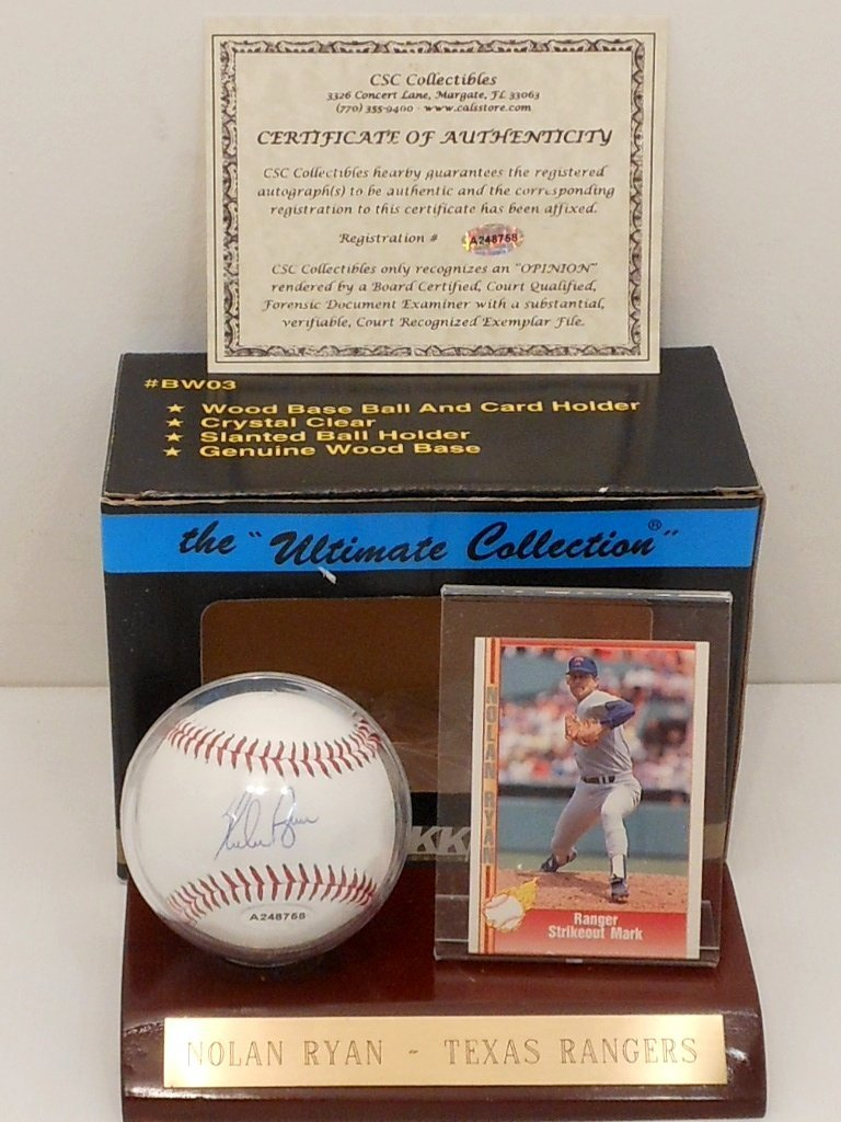 Nolan Ryan Autograph Baseball