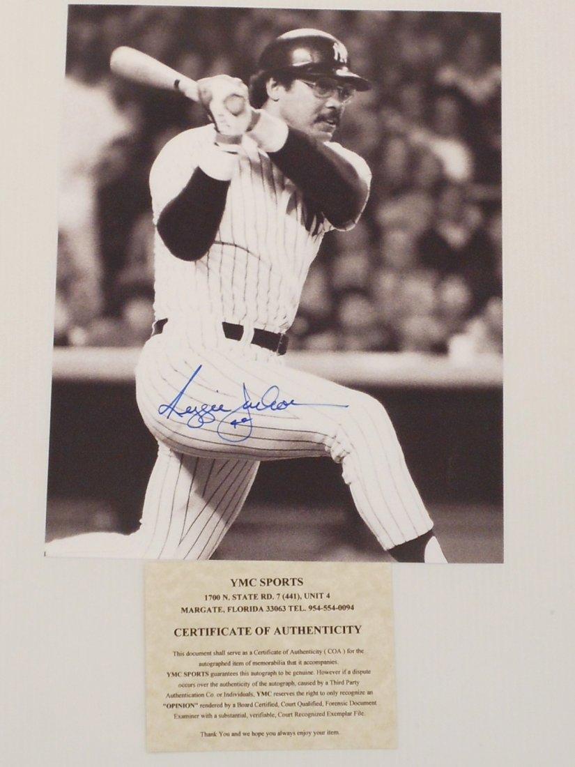 Reggie Jackson Autograph Black and White Photo