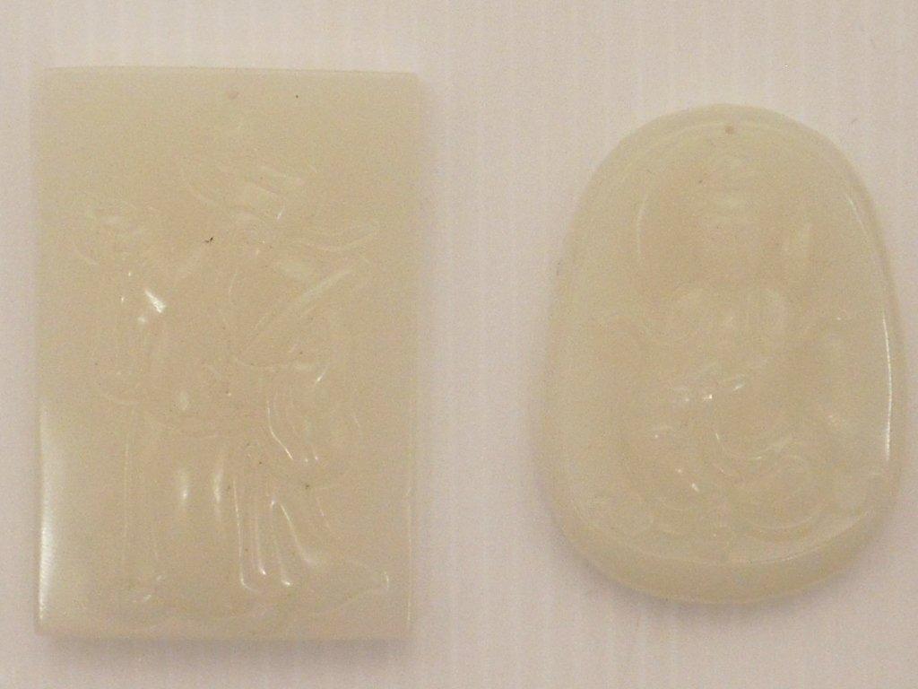Two White Jade Pendants #2