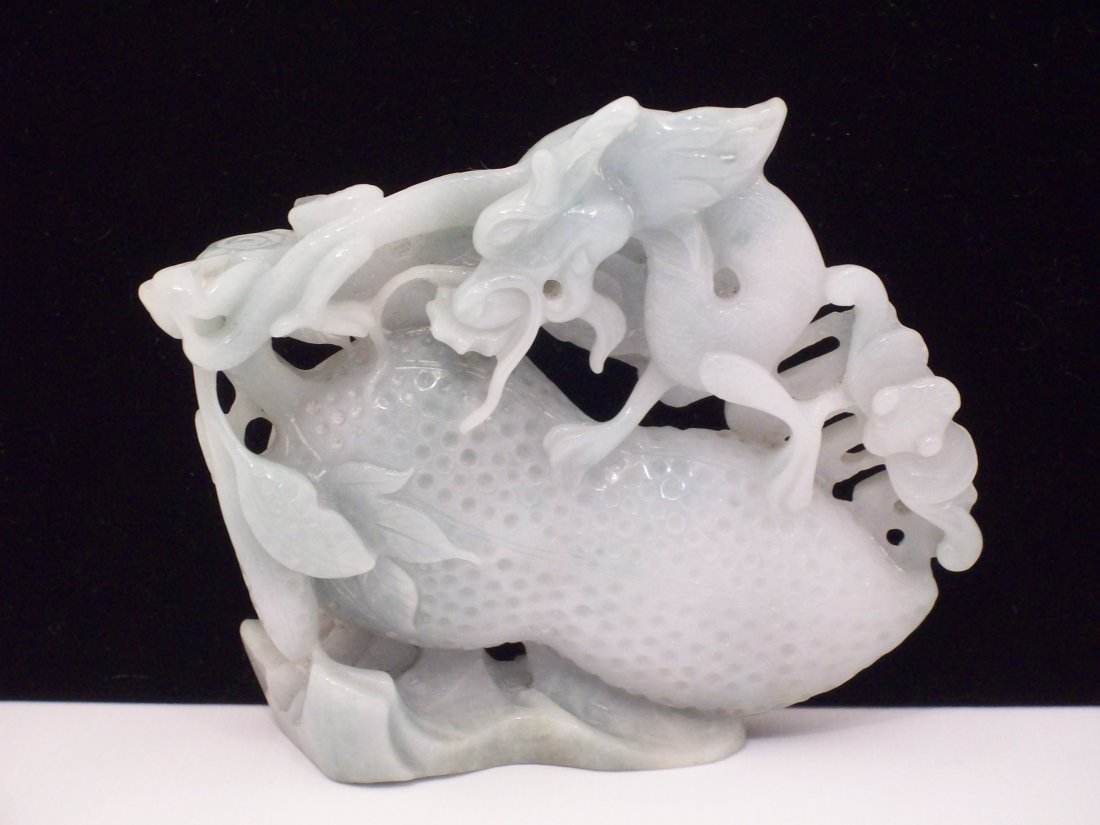 Jade Carved Dragon with Stand