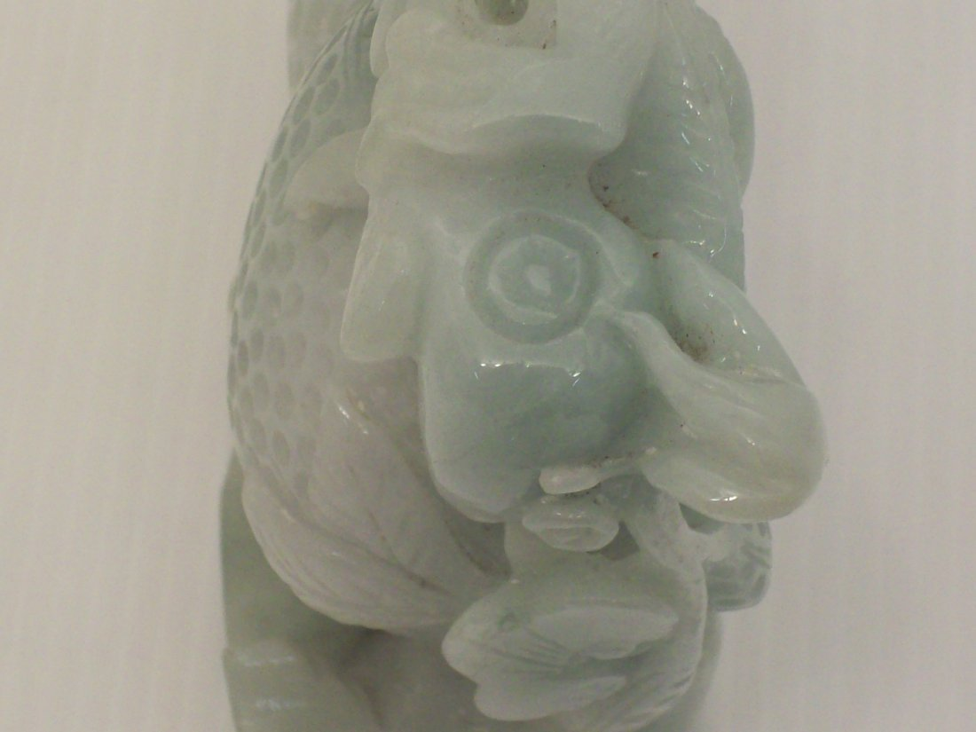 Jade Carved Dragon with Stand - 7