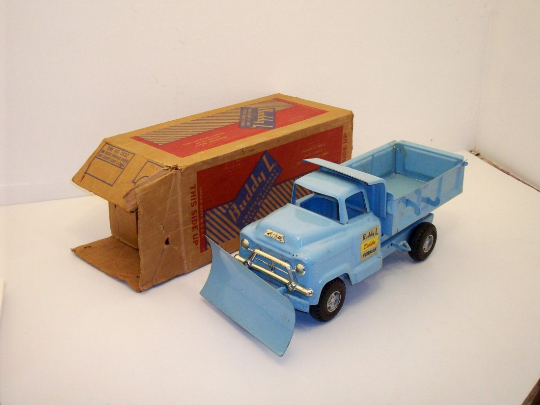 Buddy L Deluxe Hydraulic GMC Dump Truck with Plow