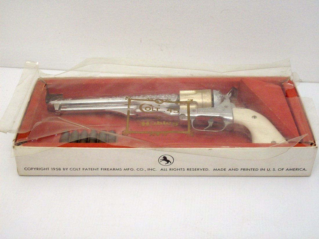 Hubley Colt 45 Cap Gun in The Box with Bullets