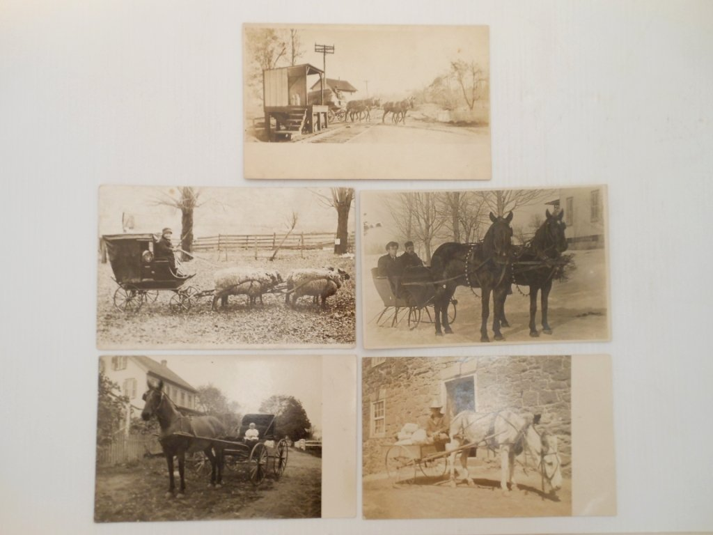 Lot of R.P.P.C's, 'Carriages'