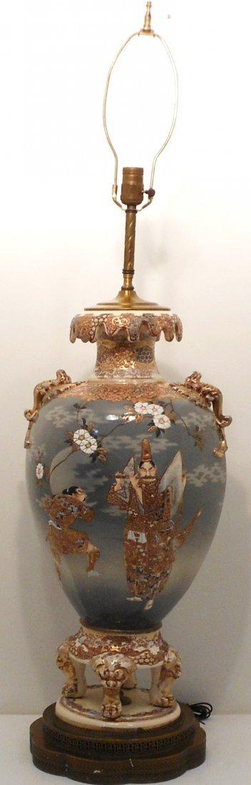 19th C.  Meiji Satsuma Lamp