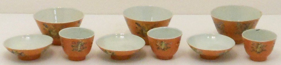 Lot of Nine 19th C. Bowls Cups and Saucepans