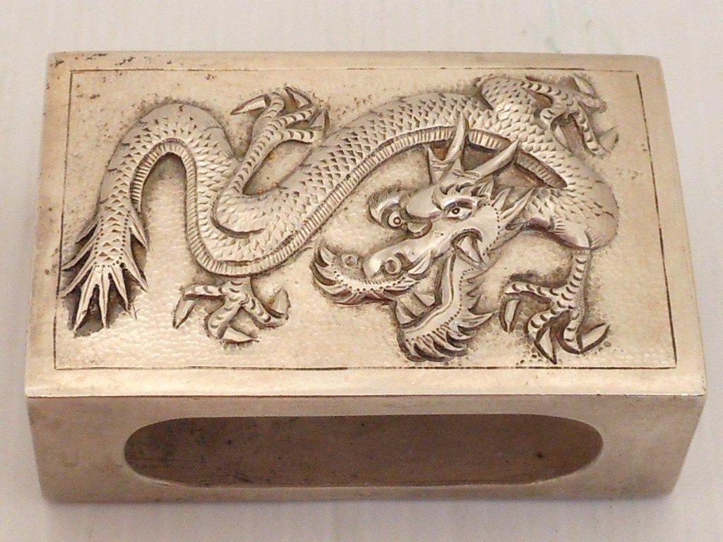 Silver Matchbox Holder