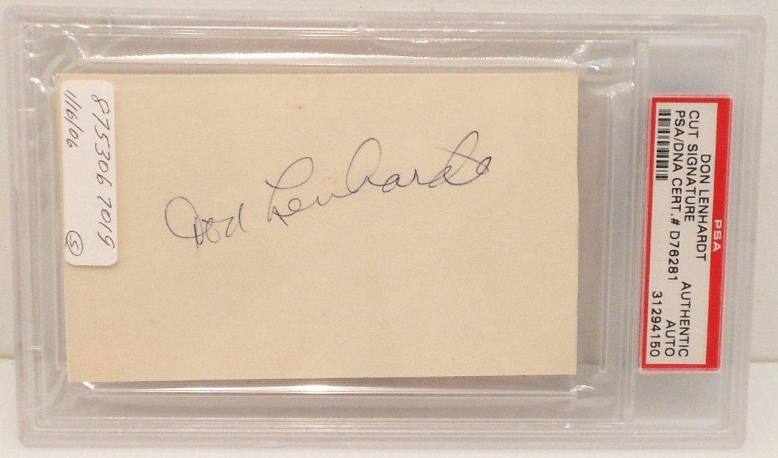 Don Lenhardt Autographed Cut