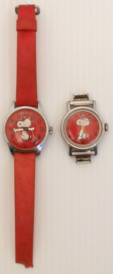 """Pair of """"Snoopy"""" Swiss Made Watches"""