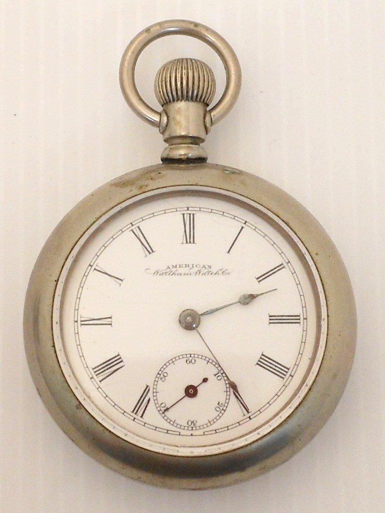 American Waltham Silverode Mens Pocketwatch