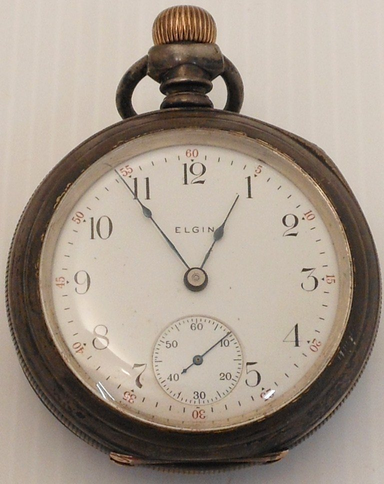 Elgin Nat'l Sterling Mens  Pocketwatch