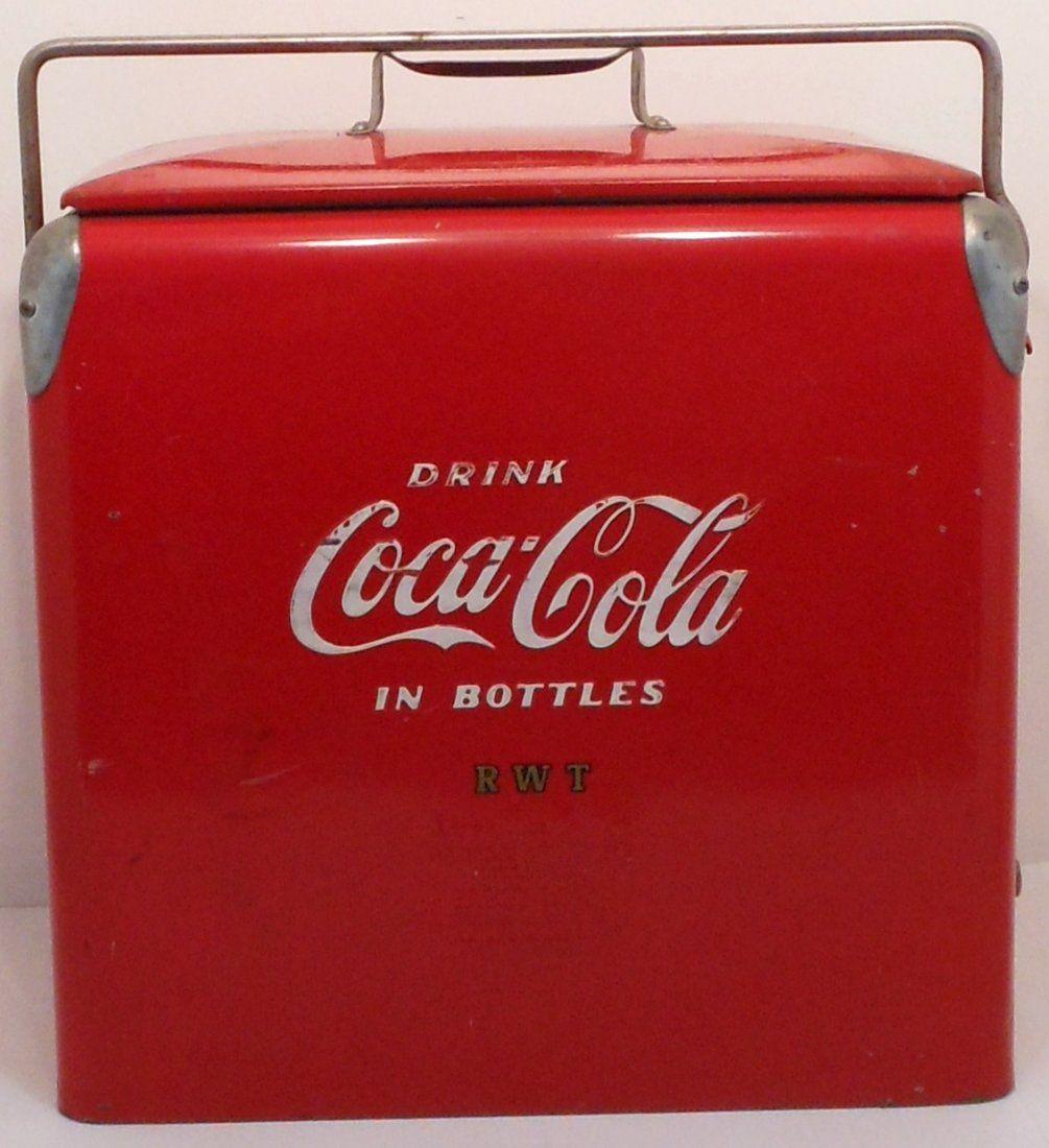 Vintage Action Coca-Cola Metal Cooler #1