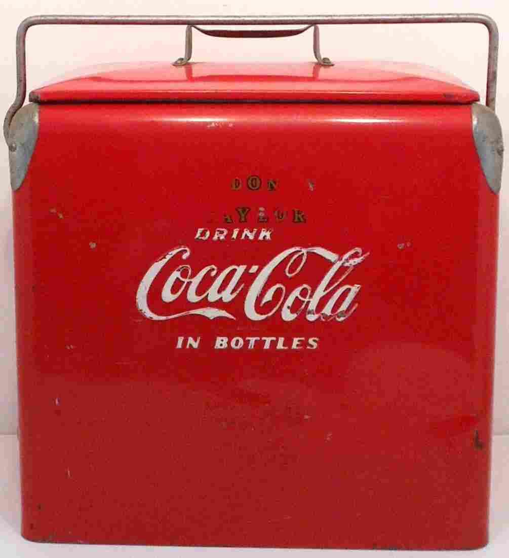 Vintage Action Coca-Cola Metal Cooler #2