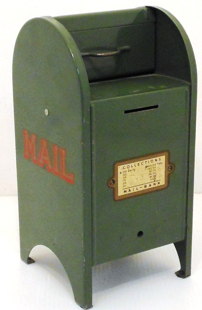 Vintage All-American Toy Mail Box Bank
