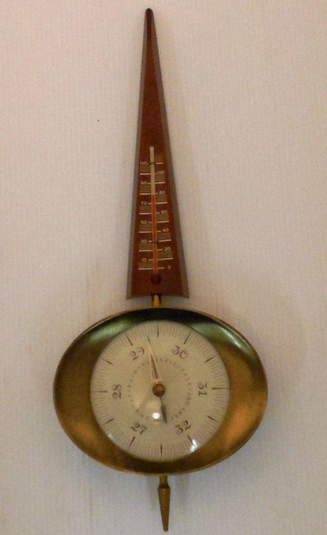 Art Deco Swift Barometer Thermometer