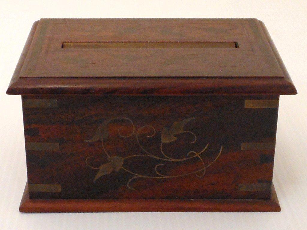 Vintage Arts and Crafts Wood Cigarette Box Dispenser
