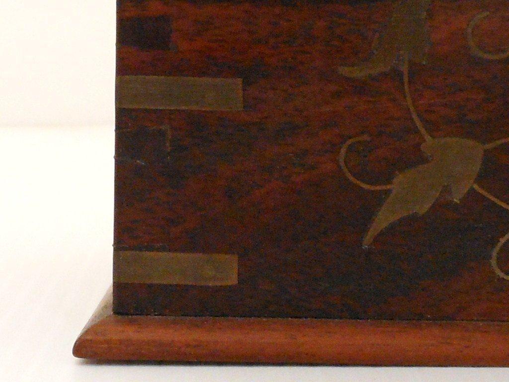 Vintage Arts and Crafts Wood Cigarette Box Dispenser - 2