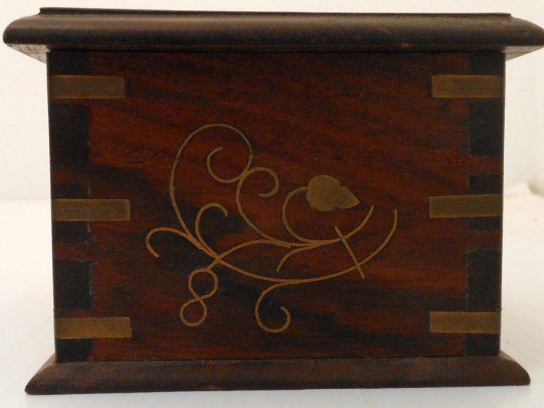 Vintage Arts and Crafts Wood Cigarette Box Dispenser - 4