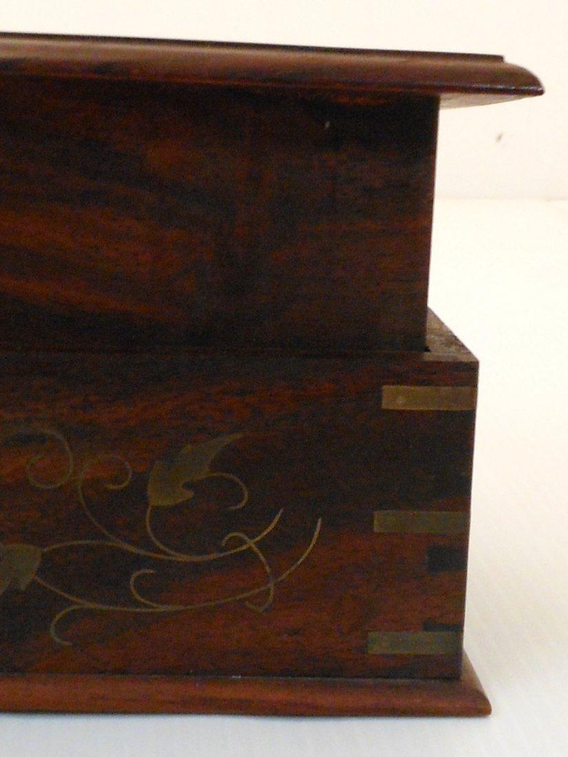 Vintage Arts and Crafts Wood Cigarette Box Dispenser - 5