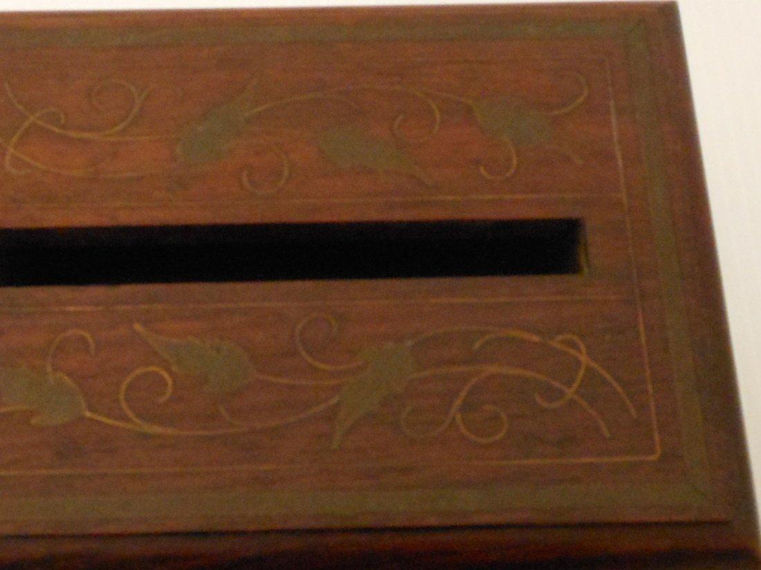 Vintage Arts and Crafts Wood Cigarette Box Dispenser - 6