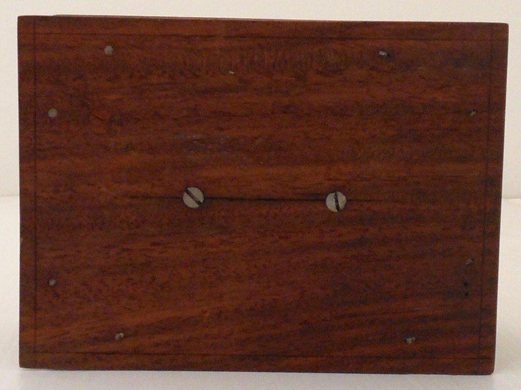 Vintage Arts and Crafts Wood Cigarette Box Dispenser - 7