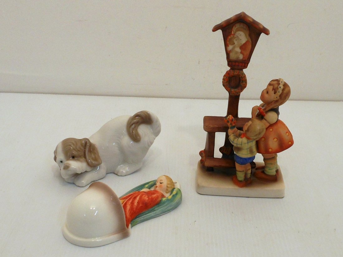 Lot of Lladro, Goebel and Hummel Porcelains