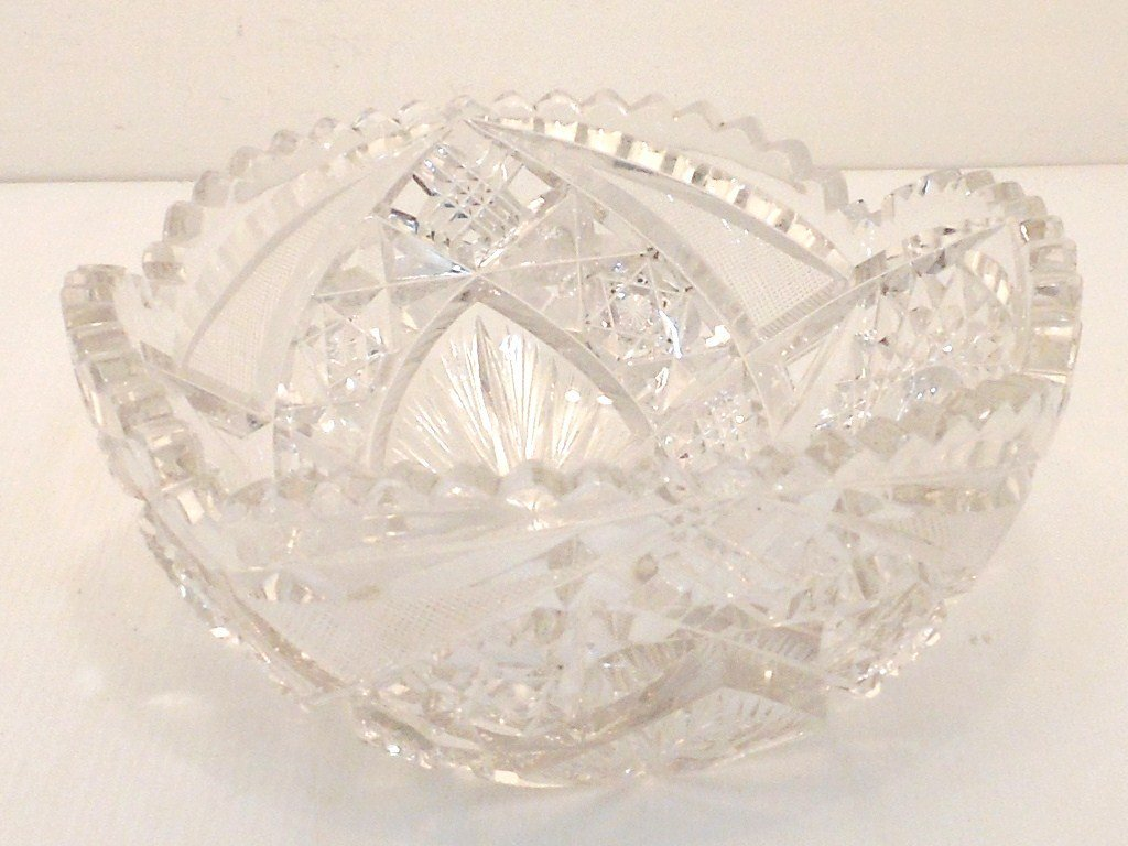 American Brilliant Cut Glass Bowl