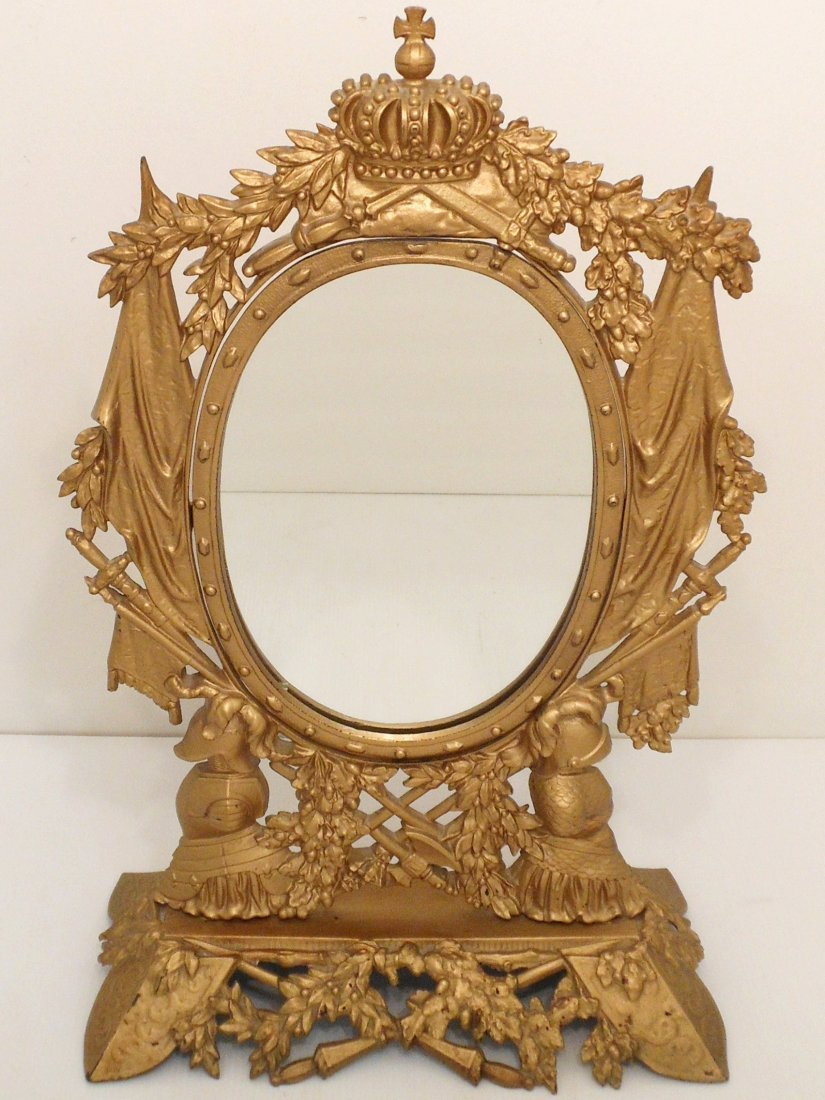 Gilt Metal Girondelle Tilt Mirror