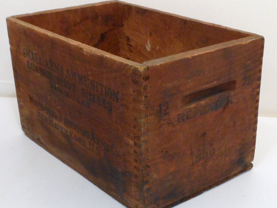 Vintage Winchester Wood Shipping Crate - 2