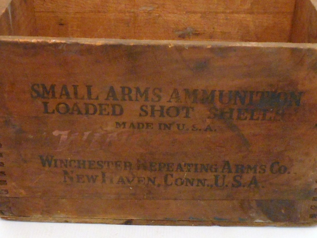 Vintage Winchester Wood Shipping Crate - 3
