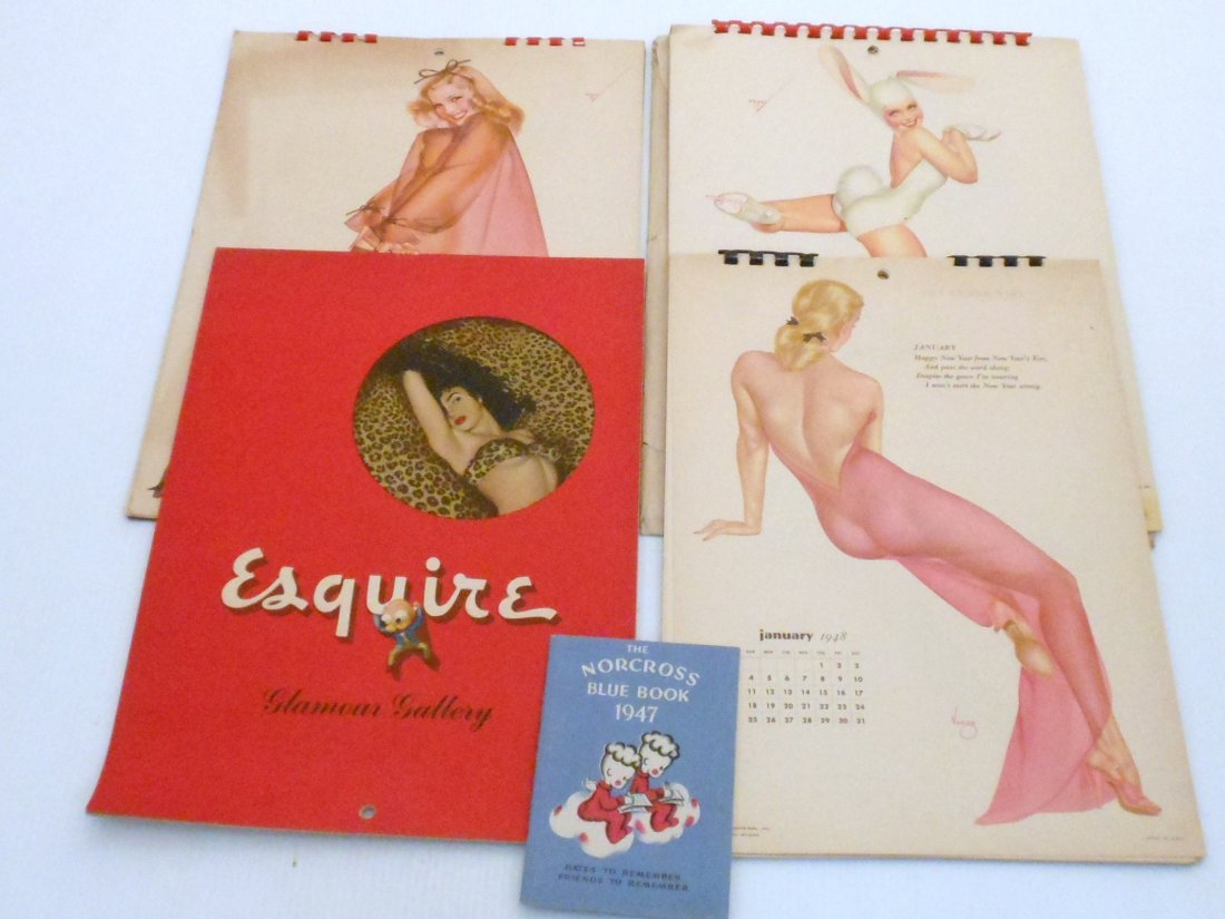 Vintage Petty Varga Esquire Pin Up Girl Calendars
